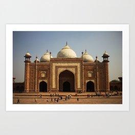 Taj Mahal Masjib Art Print
