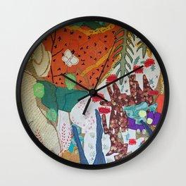 Llama and butterfly Wall Clock