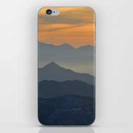 Sunset at the mountains iPhone Skin