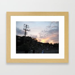 Demolition Framed Art Print