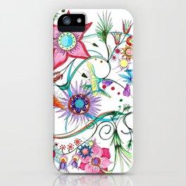 Gipsy garden - hand drawn iPhone Case