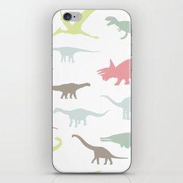 Colorful cute dinosauruses iPhone Skin
