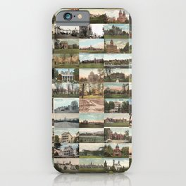 Kirkbride Asylum Vintage Postcard Collage iPhone Case