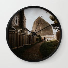 Cozy Cannon Beach, Oregon Wall Clock