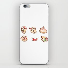 Spicy Mexican Food iPhone Skin