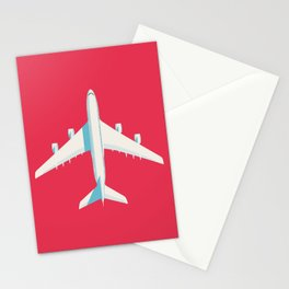 A380 Super Jumbo Jet Airliner - Crimson Stationery Cards