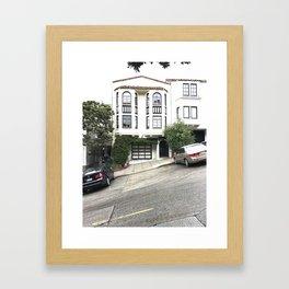 russian hill in san francisco Framed Art Print