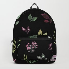 Tiny watercolor leaves pattern Backpack