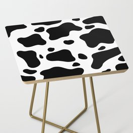 Cow Hide Side Table