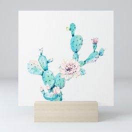 Desert Cactus Rose Mini Art Print