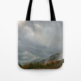 Dolly Sods Mountain Fog Tote Bag