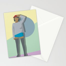 Up Against the Wall Stationery Cards