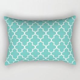 Moroccan - Turquoise Rectangular Pillow