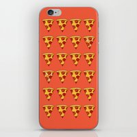 pizza iPhone & iPod Skins featuring PIZZA by Kaitlin Smith