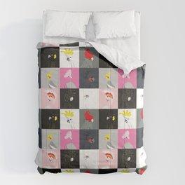 Australian cockatoos tile pattern Comforters