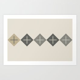 Cross Stitch Neutral Art Print