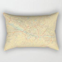 Florence Map Retro Rectangular Pillow