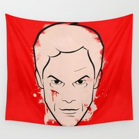 dexter Wall Tapestries featuring Dexter Morgan - Dexter by Federico Detor Simoni