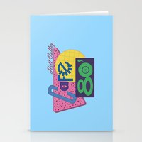 80s Stationery Cards featuring Cafe 80s by Loku
