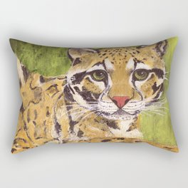 Clouded Leopard Rectangular Pillow