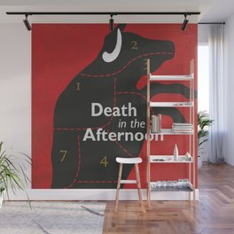 Ernest Hemingway book cover & Poster, Death in the Afternoon, bullfighting stories Wall Mural