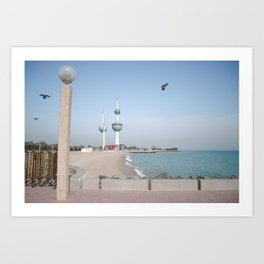 Kuwait Shoreline/ Towers Art Print