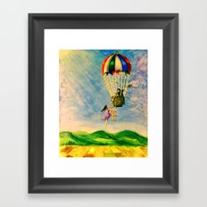 BALLOON LOVE: Flying Away Framed Art Print