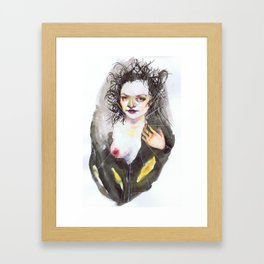 Her Secrets Could Be Read in the Wrinkle of Her Eye or the Twist of Her Hair Framed Art Print