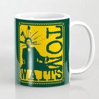 tom waits Mugs featuring Tom Waits by Silvio Ledbetter
