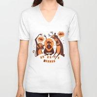 poker V-neck T-shirts featuring Holdem Poker by Bakal Evgeny
