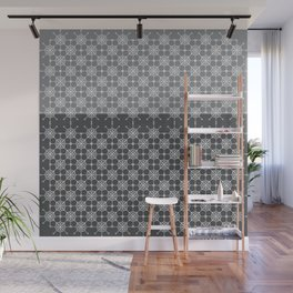 Portuguese Tiles of Lisboa in Grey with Glitch Wall Mural