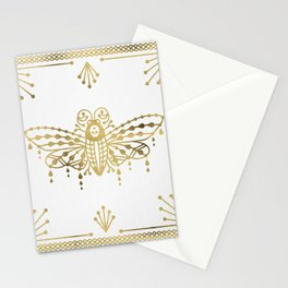 Death's Head Hawkmoth – Gold Palette Stationery Cards