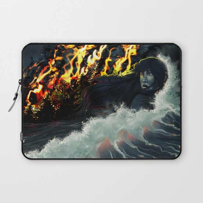 Running to the Sea Laptop Sleeve