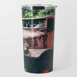 Abandoned Truck in the Woods Travel Mug