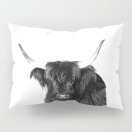 Cow photo | Black and White Pillow Sham