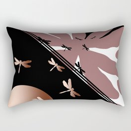 Dragonflies' battle Rectangular Pillow