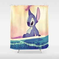 stitch Shower Curtains featuring Stitch by Chiaris
