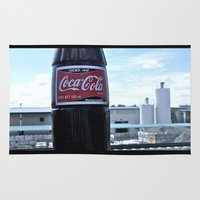 coke Area & Throw Rugs featuring Industrial Coke by Vorona Photography