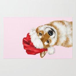 Christmas Shiba Inu Rug