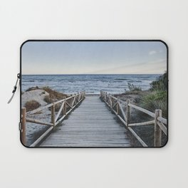 """""""Walking to the beach....."""" At sunset Laptop Sleeve"""