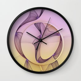 Modern Beauty, Abstract Fractal Art Wall Clock