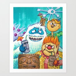 The North Pole Gang Art Print