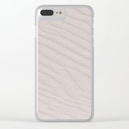 White Summer Sandy Beach Clear iPhone Case