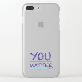 You Matter 2 Me - purple Clear iPhone Case