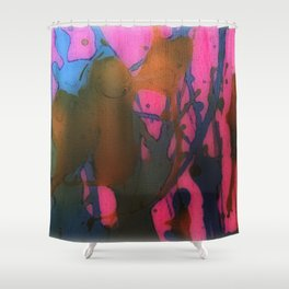 Splashes of Paint Shower Curtain