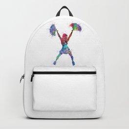 Cheerleader Art Girl Cheerleading Sports Dance Gift Colorful Watercolor Decor Backpack
