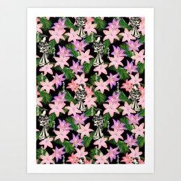 JAPANESE tropical Art Print