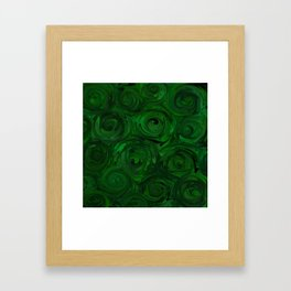 Emerald Green Roses Framed Art Print