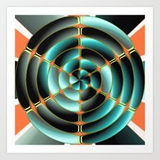 Abstract radial object Art Print