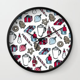 Xmas Stuff – White Wall Clock
